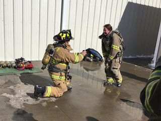 Byers firefighters get engaged after exercise
