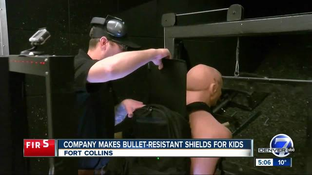 Colorado company making bullet-resistant shields for kids