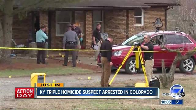 Kentucky triple-murder suspect arrested in Colorado
