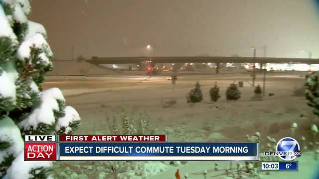 Winter storm causing crashes- delays in Denver area and high country