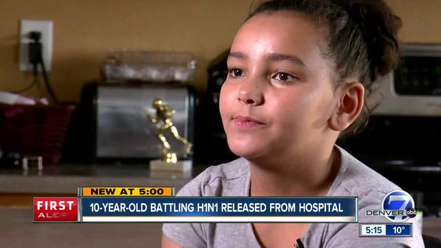 Aurora girl beats H1N1 infection after weeks-long battle at Children-s Hospital