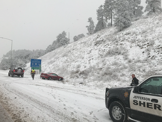 Winter storm causing crashes, delays
