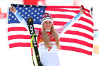 Lindsey Vonn earns bronze in downhill run