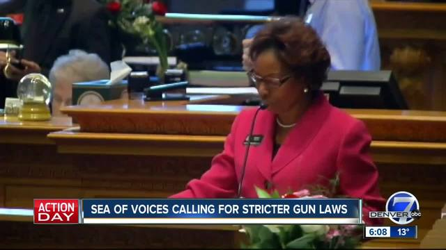 Sea of voices calling for stricter gun laws