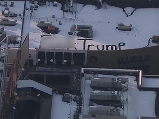 Anti-Trump message appears on Pavilions' roof