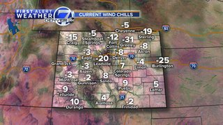Chilly across Colorado today