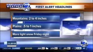 Cold again across Colorado