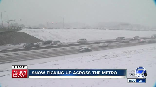 Denver area storm snarls commute with multiple crashes- road closures