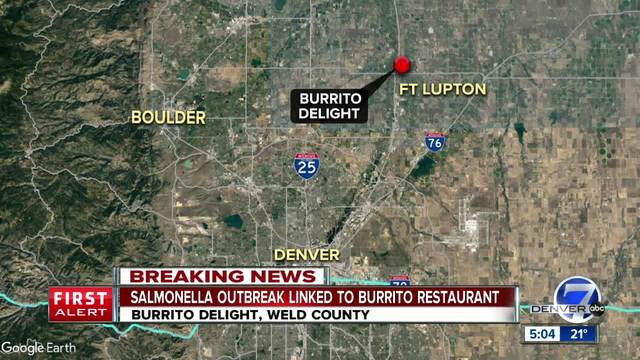 10 sickened with Salmonella from Weld Co- restaurant chain following…