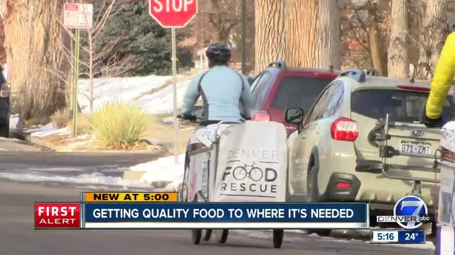 Denver Food Rescue volunteers help curb food waste- deliver to needy in…