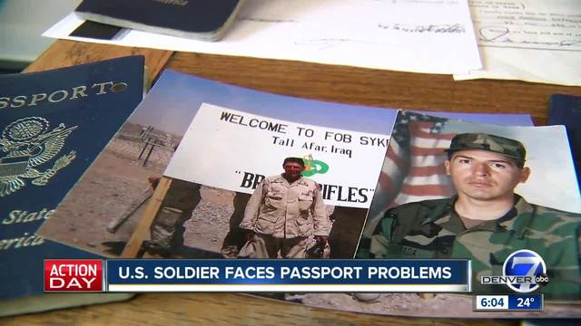 US soldier faces passport problems