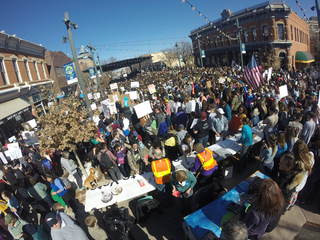 Fort Collins students walk out in gun protest