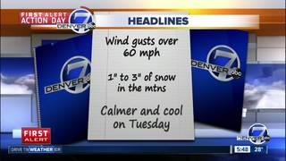Winds will be lighter overnight
