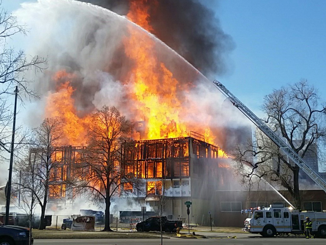 3-alarm fire breaks out at Denver construction site