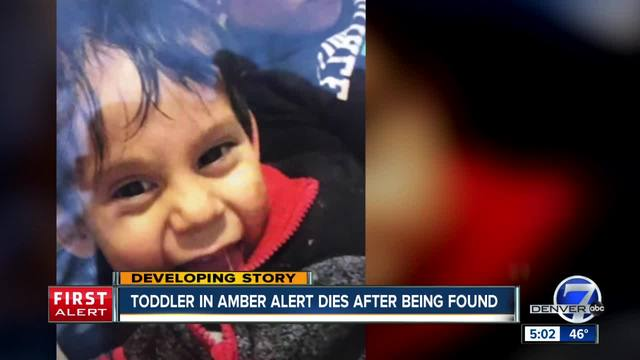Colorado Springs toddler- 2- dies after he was found following Amber…