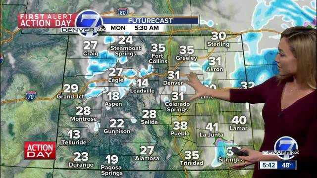 First Alert Action Day- Gusty winds- rain and snow across the Denver…