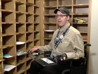 7Everyday Hero delivers mail at Craig Hospital