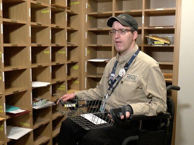 7Everyday Hero Michael Hancey delivers mail at Craig Hospital
