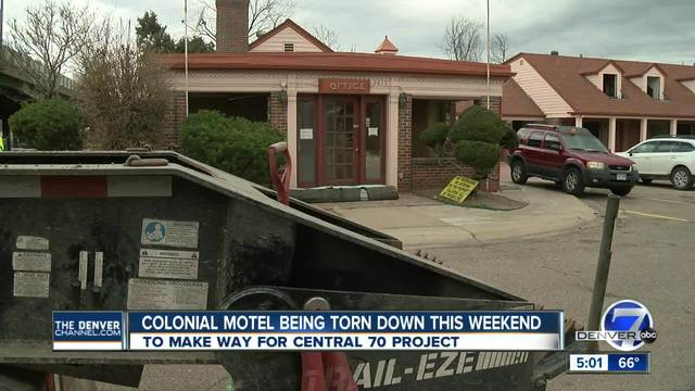 Central 70 project officially begins Saturday with demolition of Colonial Motel
