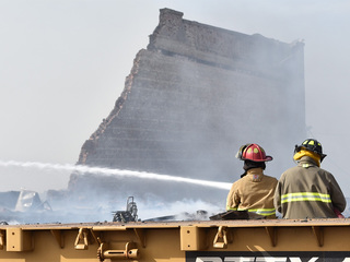 Fire burns at chemical depot in Pueblo