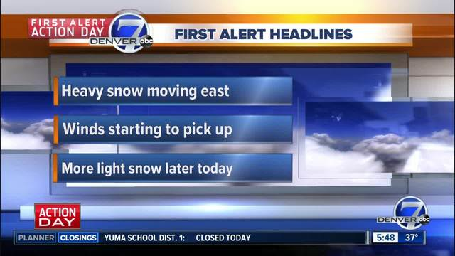 Latest Forecast: Extreme Fire Danger To Windy & Colder With Snow