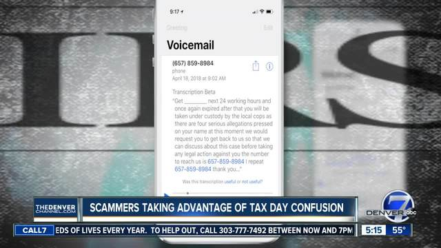 Scammers taking advantage of Tax Day confusion