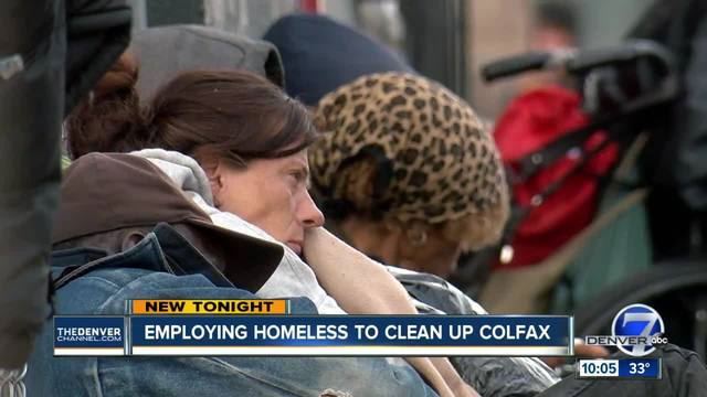 Employing homeless to clean-up Colfax