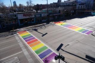 S. Broadway to get rainbow-striped crosswalks