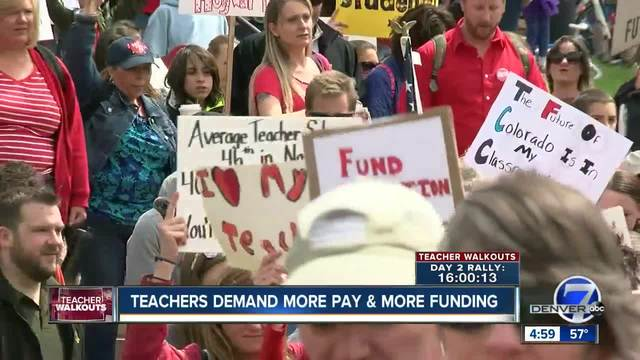 -Fund our schools-- Colorado teachers kick off first of two days of…