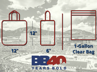 Clear bag policy in place at Folsom Field