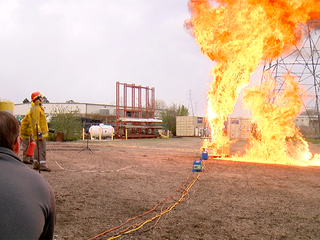 Contact7 shows risk of burns from 'gas geysers'