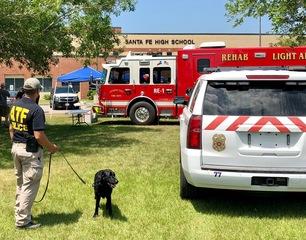 Denver ATF dog on scene of school shooting