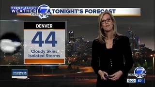 Storms clear out Sunday night, warm Monday