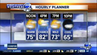 Warm, with a few more Colorado storms
