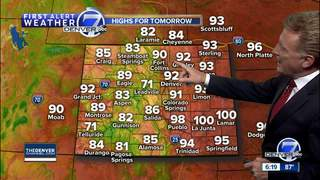 Hot and dry in Colorado for start of weekend