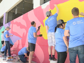 Mural transformed to show city's vibrant culture