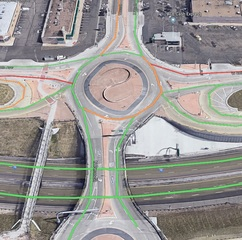 What's going on at the I-70 & Pecos roundabout?