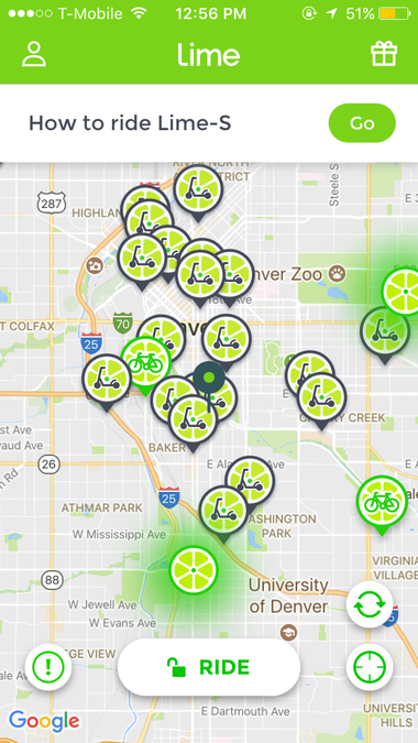 Denver tells LimeBike and Bird to scoot on out but e