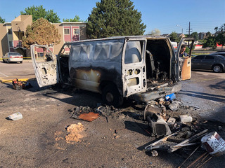 Heat to blame for van's explosion, owner injured