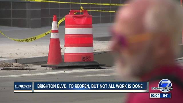 Brighton Blvd- grand opening to happen Thursday even though work is not complete