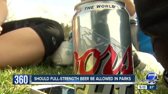 Residents split as Denver considers full strength beer at city parks