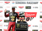 Truex tricks Harvick on track, conquers Sonoma