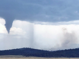 Tornado moves through Weston Pass Fire