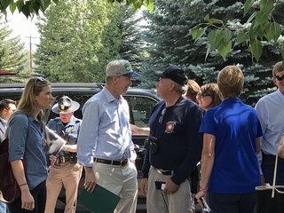 Hickenlooper takes fire tour Friday