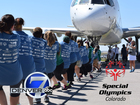 Denver7 pulling a plane for Special Olympics CO