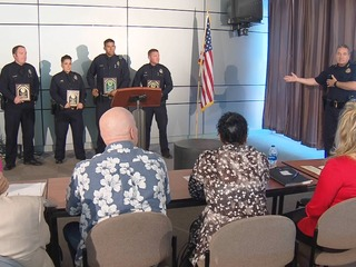 Police officers awarded for acts of kindness