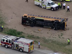 1 student remains in hospital after bus crash