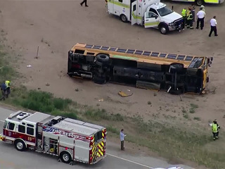 19 students injured in school bus crash