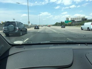 Why are parts of I-25 concrete and asphalt?