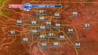 Blazing hot and dry in Denver today
